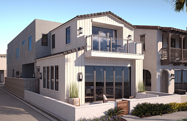 Plan 2A Farmhouse Exterior Rendering