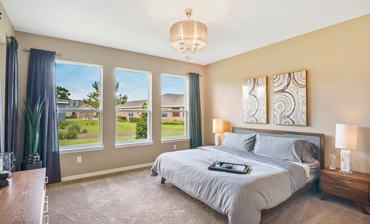 Trilogy at Ocala Preserve Excite Model Home Master Bed