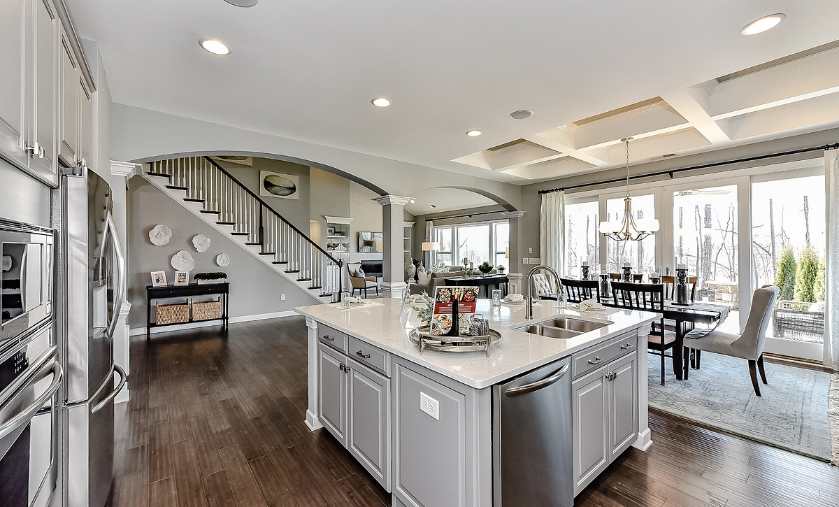 Wyndham plan Kitchen, Breakfast & Family Room