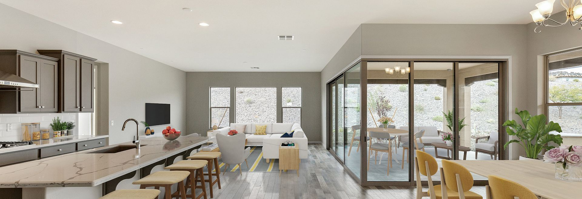 Virtually Rendered Home Interior
