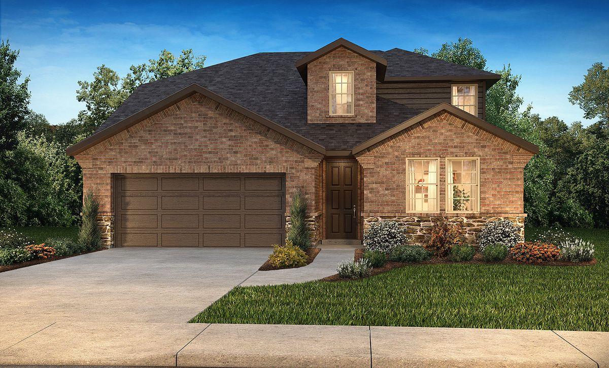 Plan 4059 Elevation B: Texas Traditional