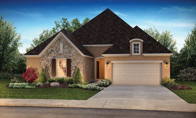 Plan 5145 Exterior C: French Country