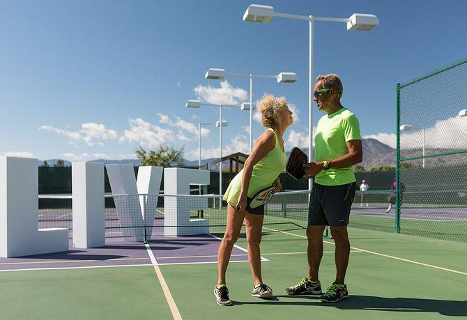 Trilogy Homeowners Taking a Tennis Break