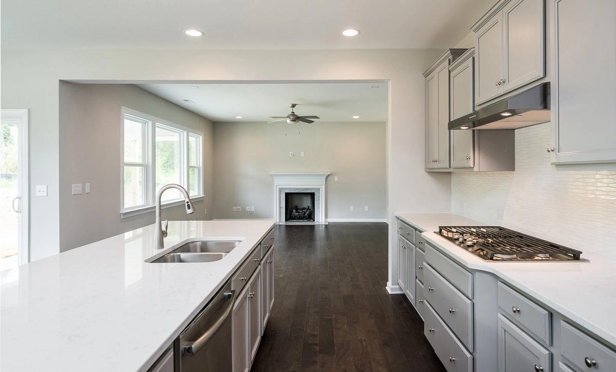 Weston plan Kitchen & Family Room