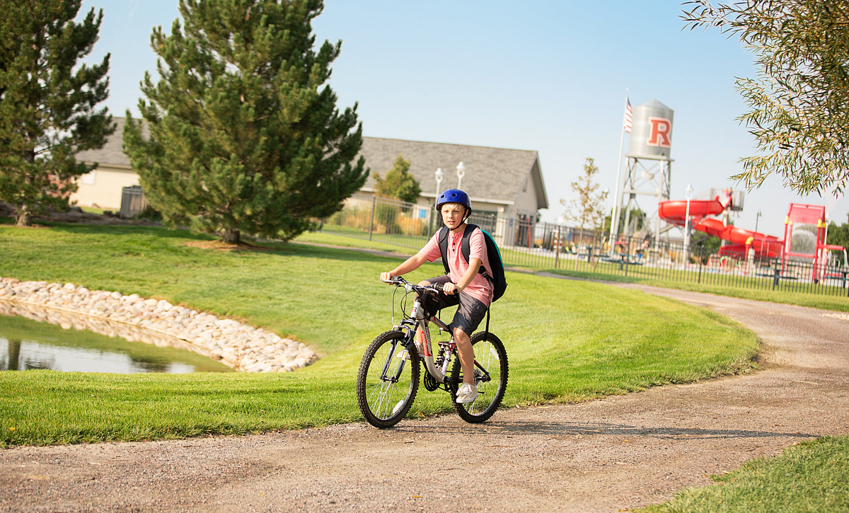 Reunion Community Boy Riding Bike