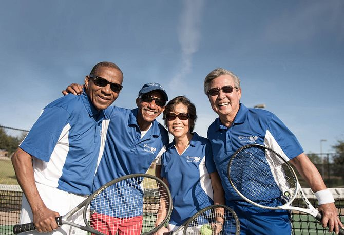 Trilogy Homeowners Take a Tennis Break