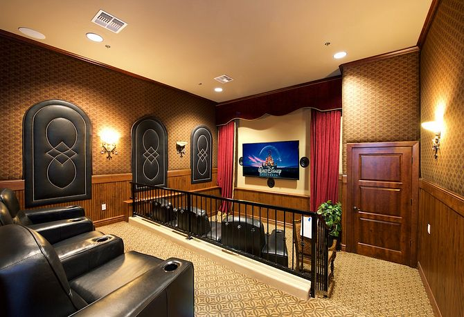 Theater room within clubhouse