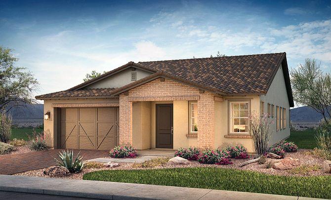 Plan 4014 Exterior B: Adobe Ranch