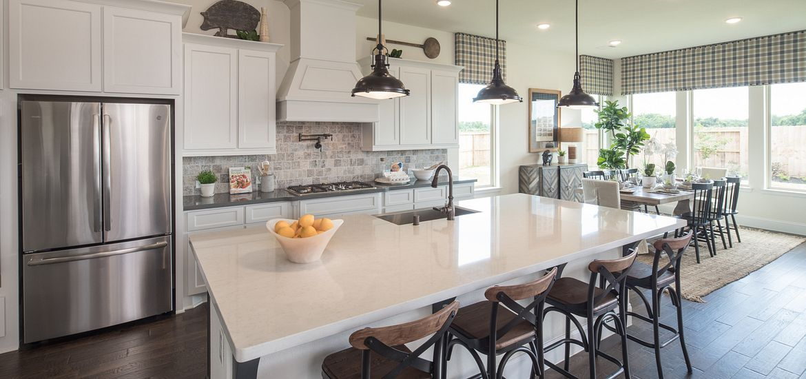 New Home Kitchen at Shea Homes Community in Houston, TX