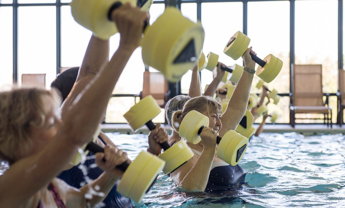 Indoor Pool Exercise Class