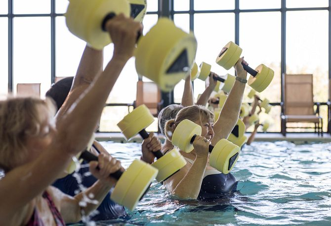 Indoor Pool Exercise Class