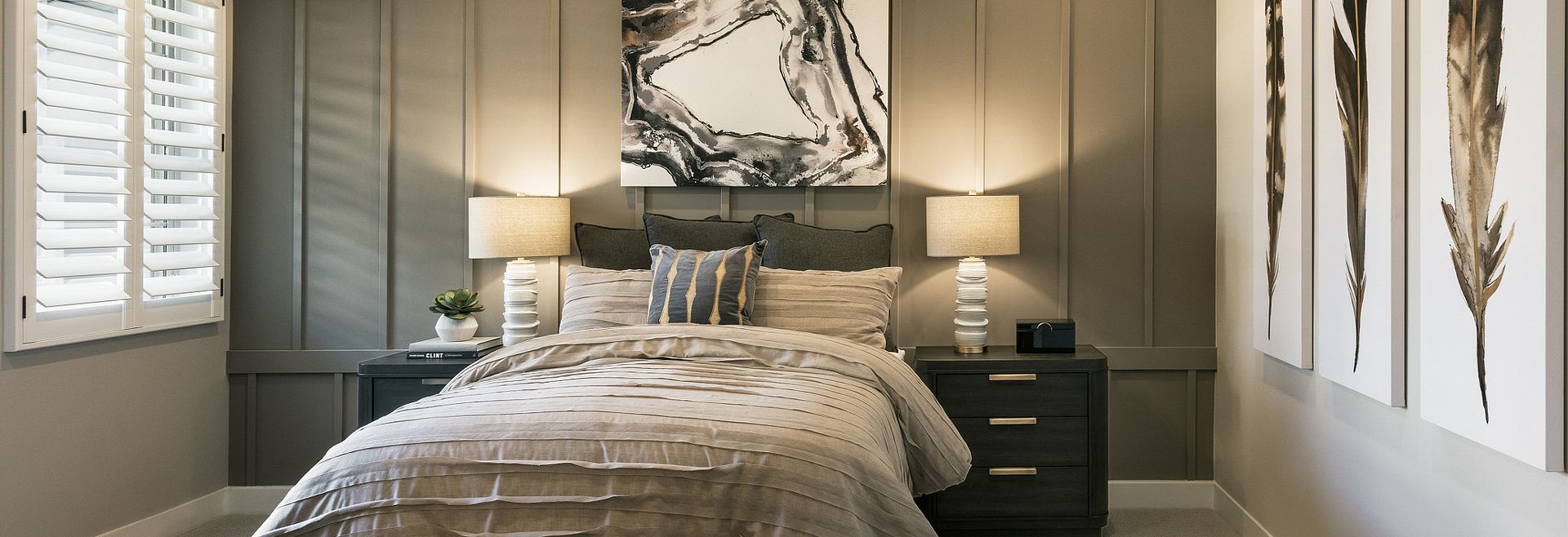 Guest bedroom in Flourish plan at Evolve at Cantilena