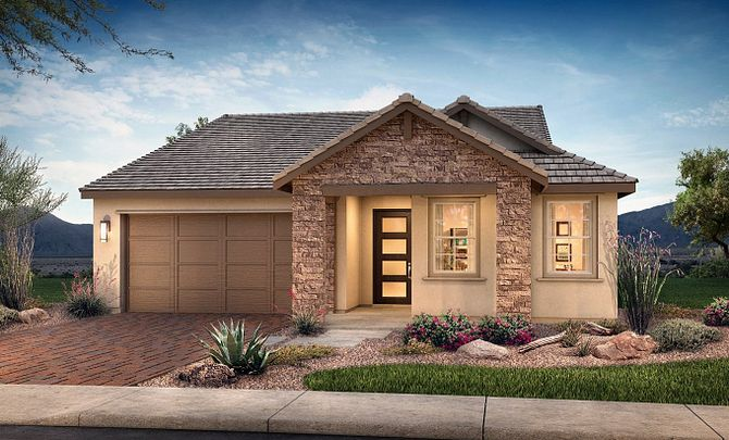 Plan 4011 Exterior C: Hill Country