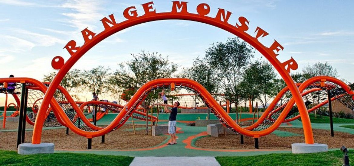The Orange Monster playground at Ambition at Eastmark