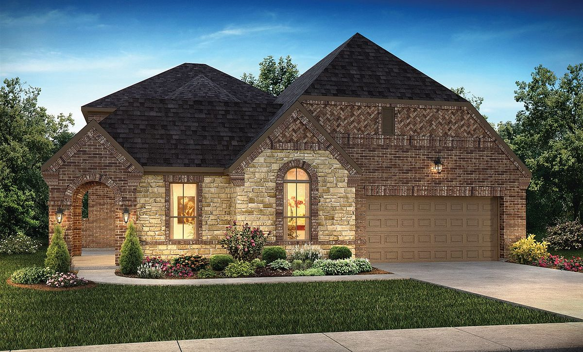 Plan 5129 Exterior B: Texas Traditional