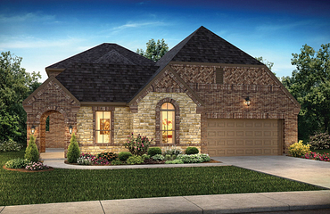Plan 5129 Exterior B: Texas Traditional
