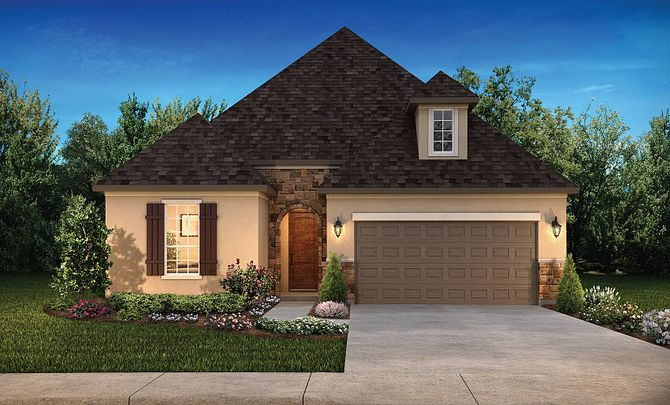 Plan 4117 Elevation C: French Country