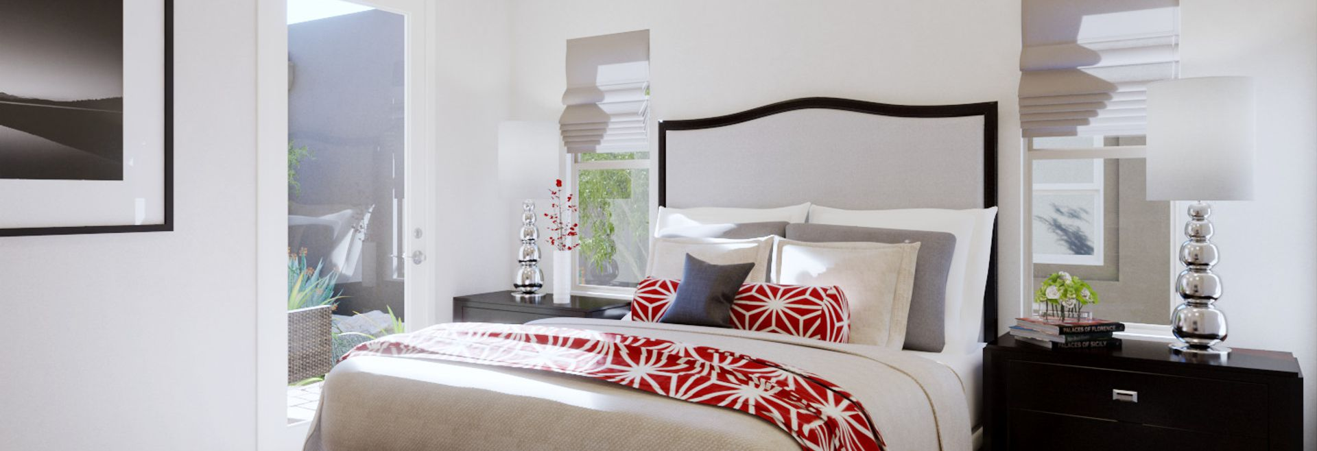 Trilogy Summerlin Radiant Virtually Staged Master Bedroom