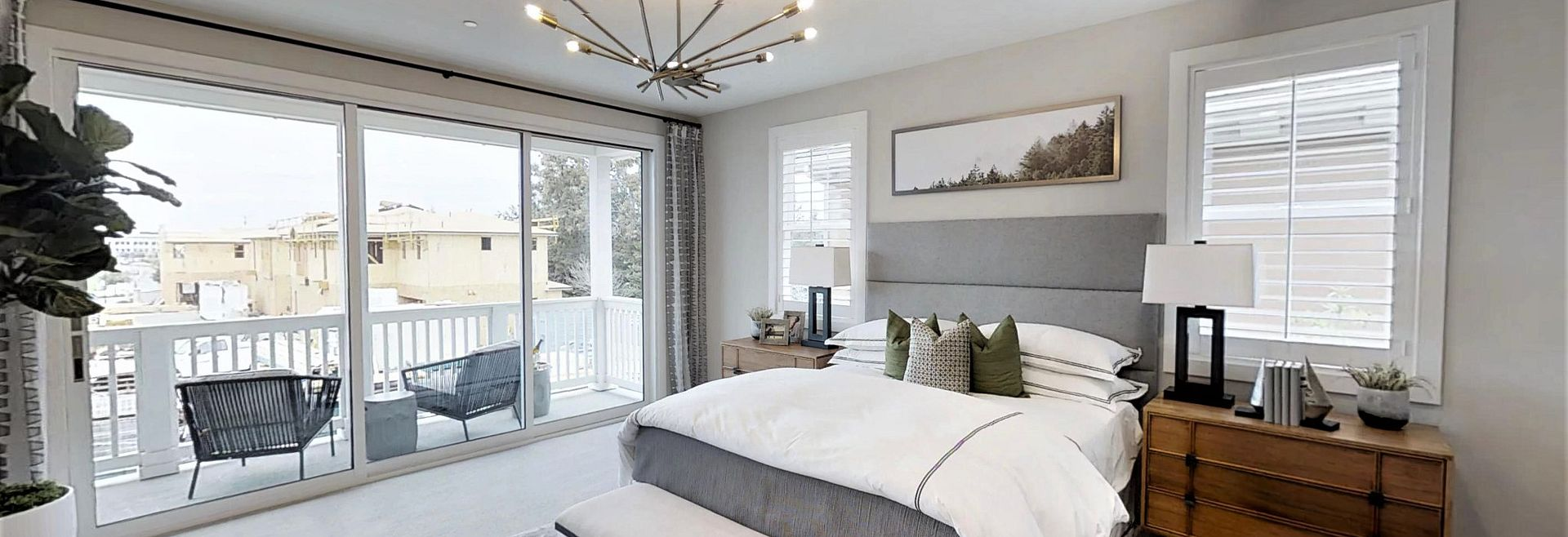 Victory at Bay Meadows Plan 1 Master Bedroom