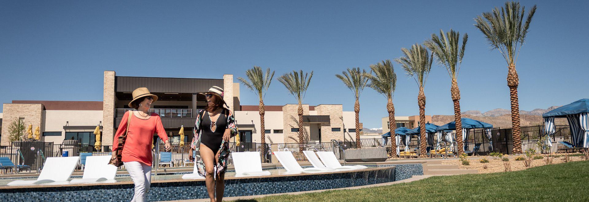 Trilogy Summerlin Homeowners Enjoying The Pool
