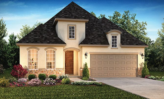 Plan 4125 Elevation C: French Country