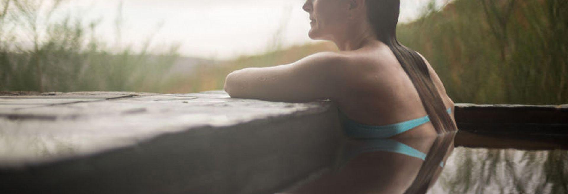 Houston Texas Woman Relaxing in Spa | Shea Homes
