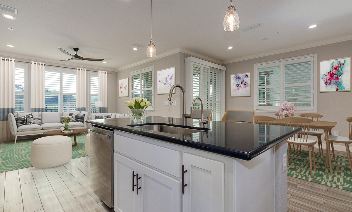 Virtually Staged Kitchen
