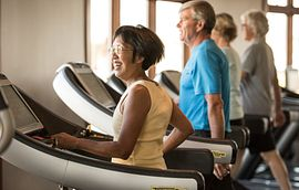 People on Treadmills at the Athletic Center
