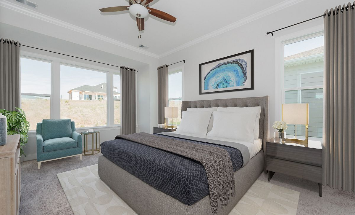 Trilogy Lake Norman Quick Move-In home Master Bed