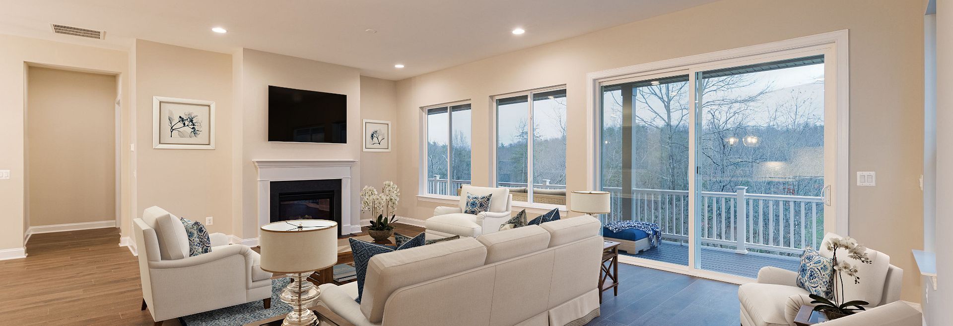 Trilogy at Lake Frederick Virtually Staged Evoke Quick Move In Home Great Room
