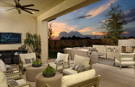 Patio Living Area of Plan 2 at The Reserves in Arizona