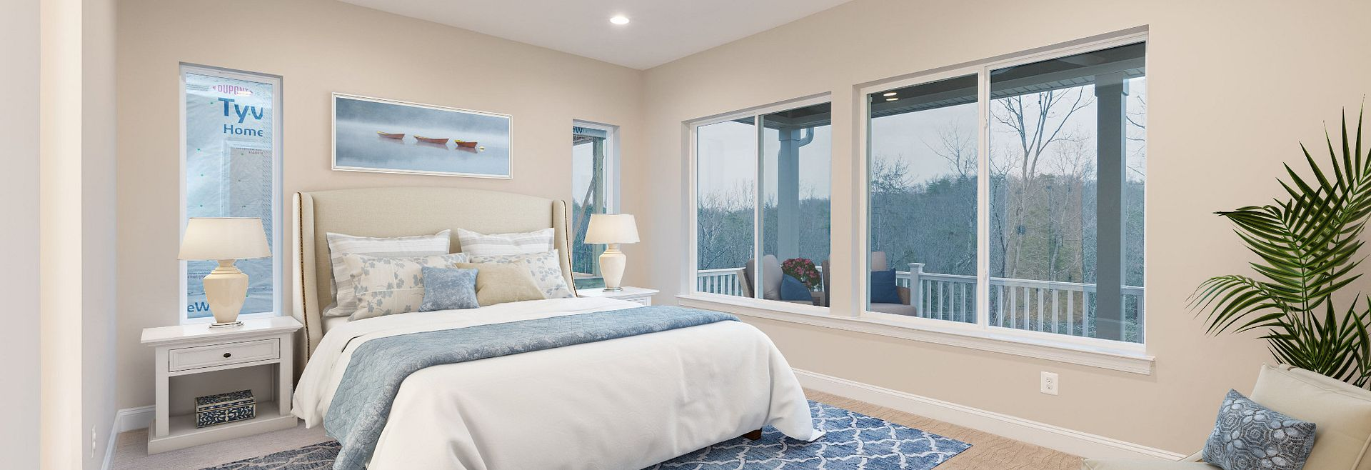 Trilogy at Lake Frederick Virtually Staged Evoke Quick Move In Home Master Bed