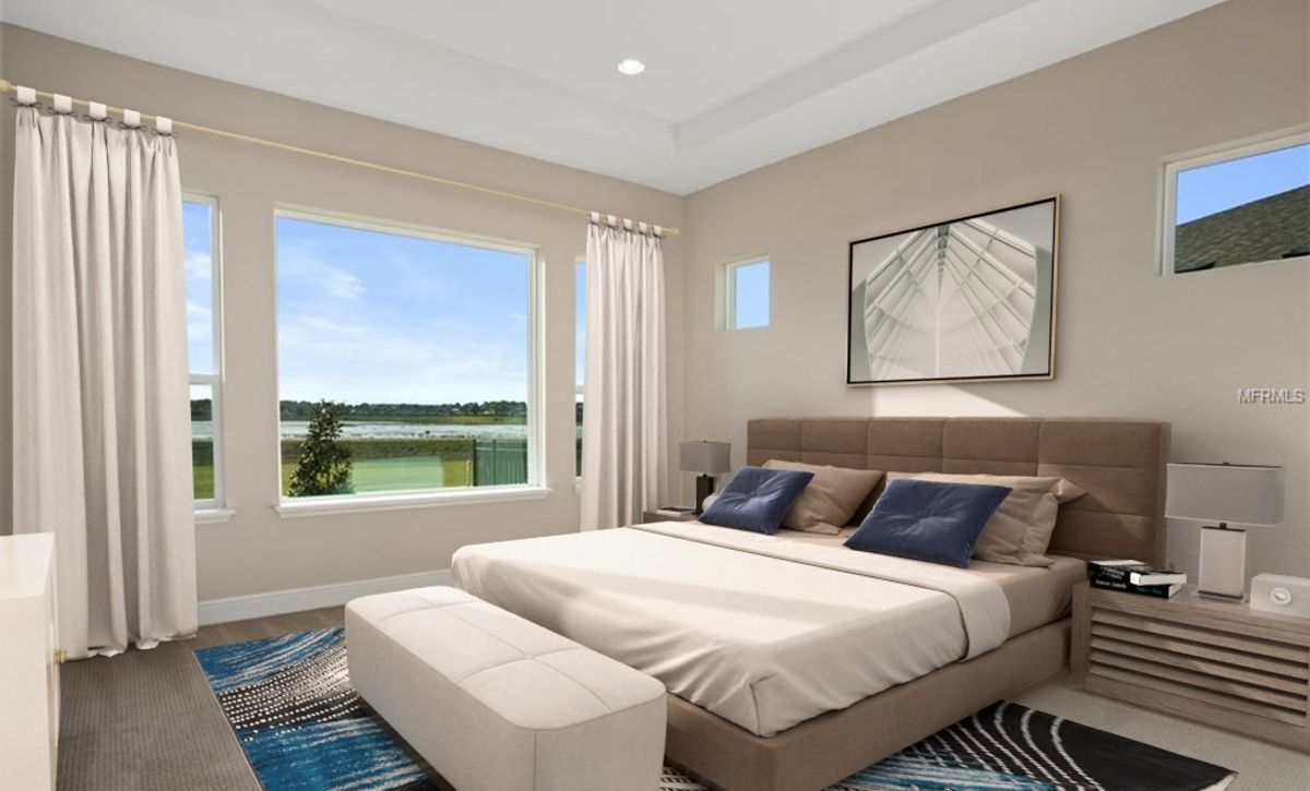 Virtually Staged Trilogy Orlando HS 1540 Master Bed