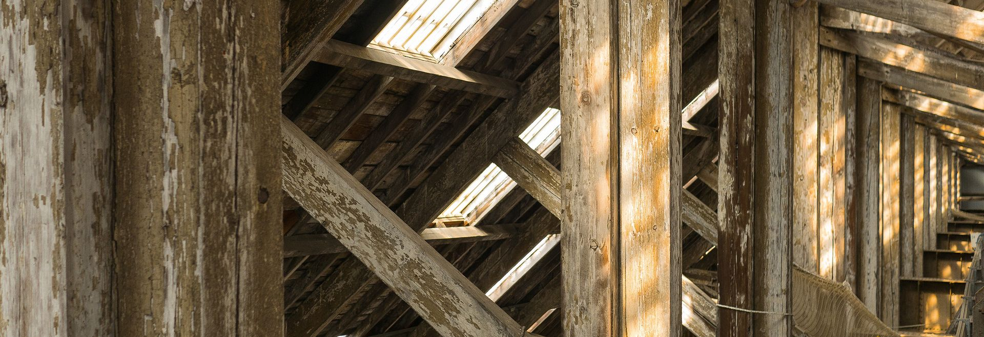 Wood attic
