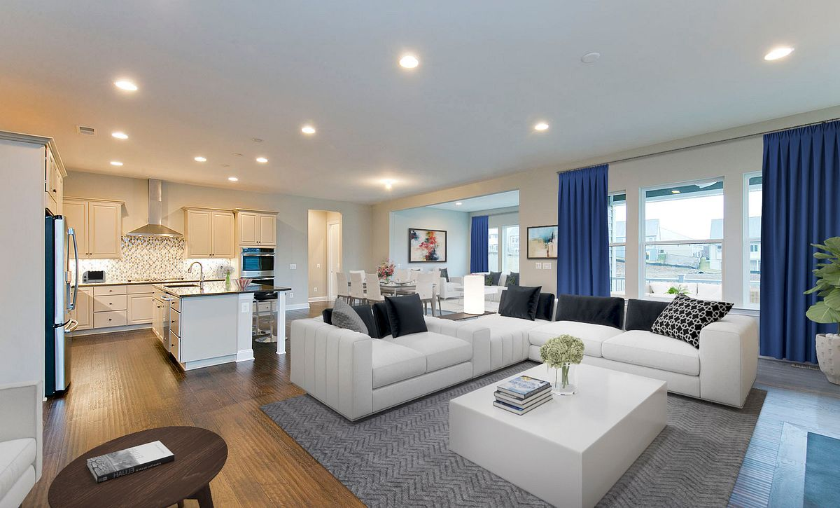 Trilogy at Lake Frederick Quick Move In Home Virtually Staged Great Room