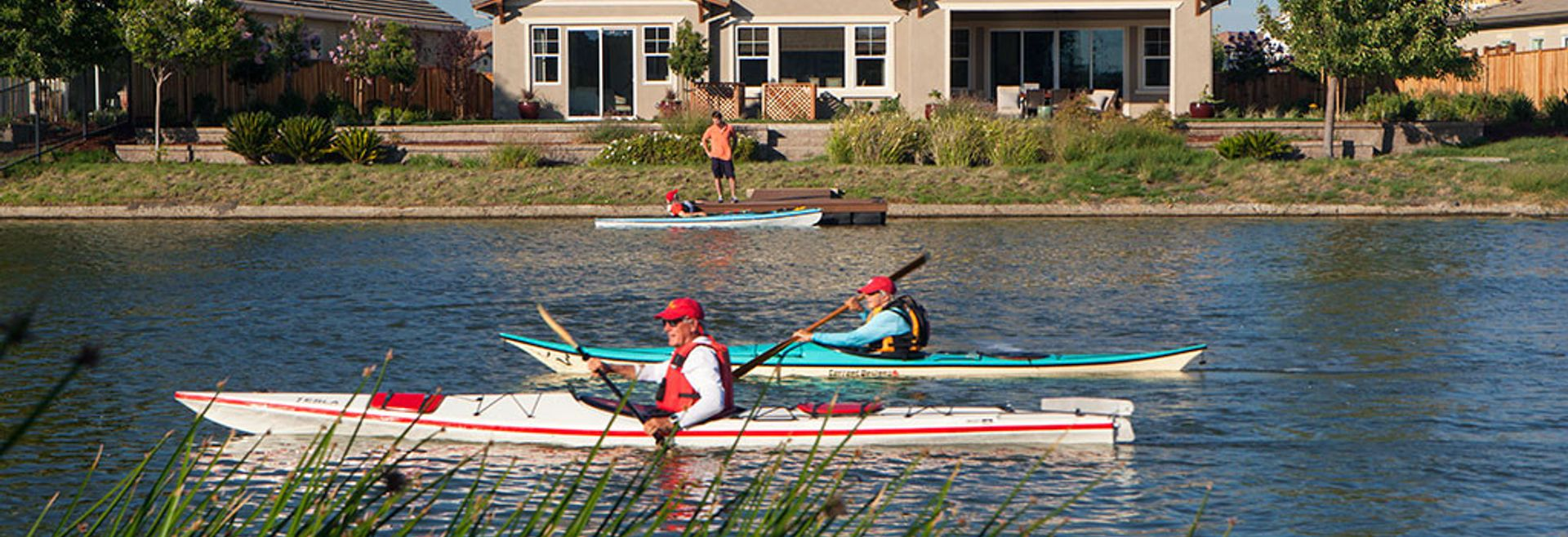 Shoreline Summer Lake Kayakers Plan 4