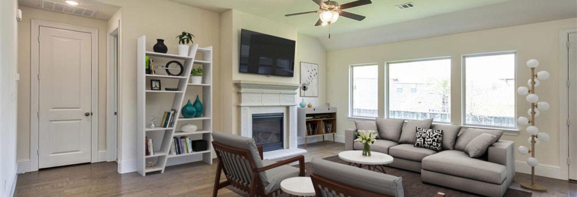 Plan 5029 Living Room Woodlands Model