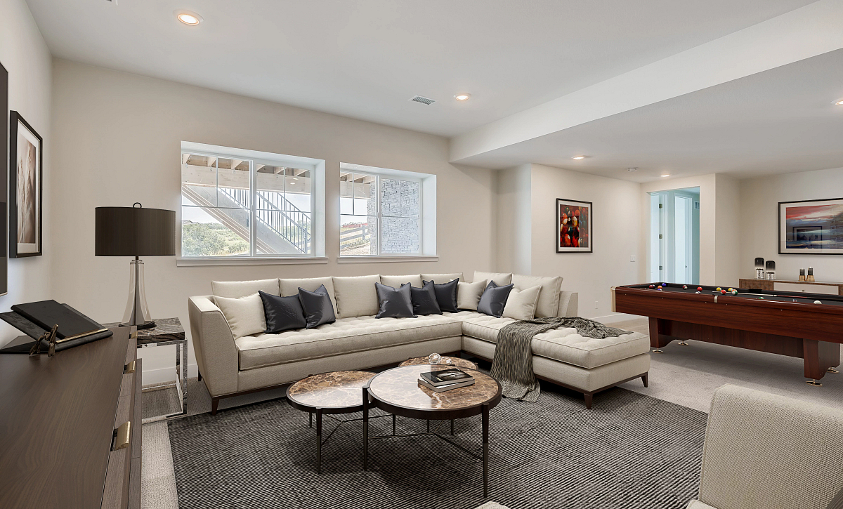 Canyons Luxe Stratton Finished Basement Rec Room