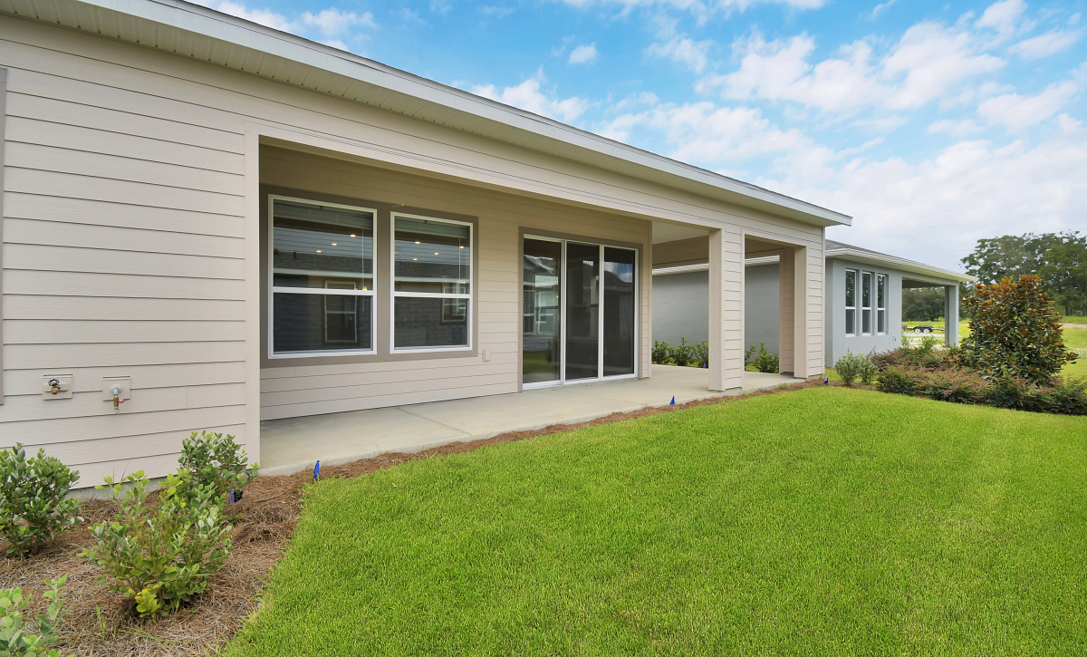 Trilogy at Ocala Preserve Quick Move In Home Imagine Plan Rear of Home