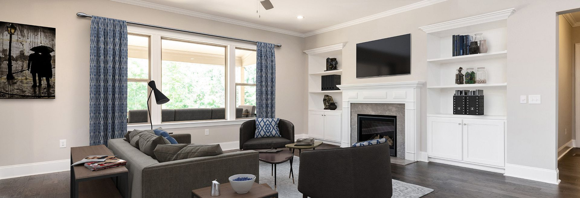 Magnolia plan Family Room (staged)