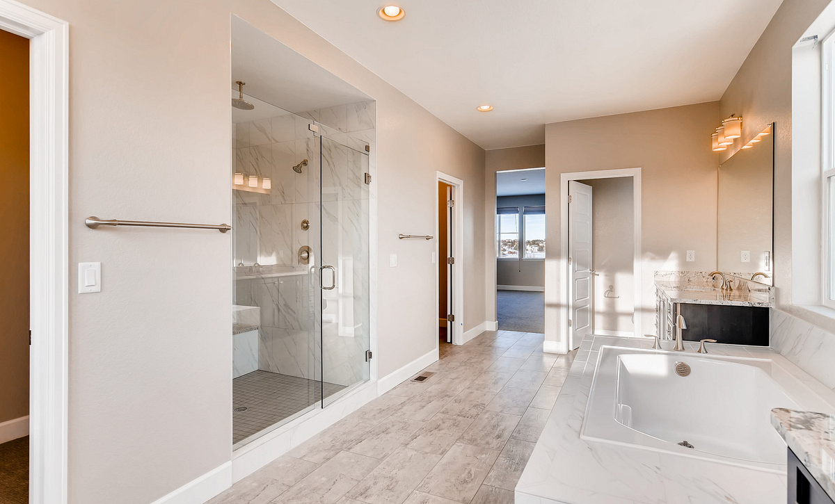 Whispering Pines Woodlands Pinyon Master Bath