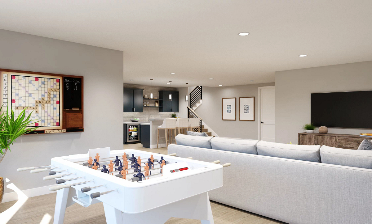 Canyons Luxe The Walton Finished Basement Rec Room