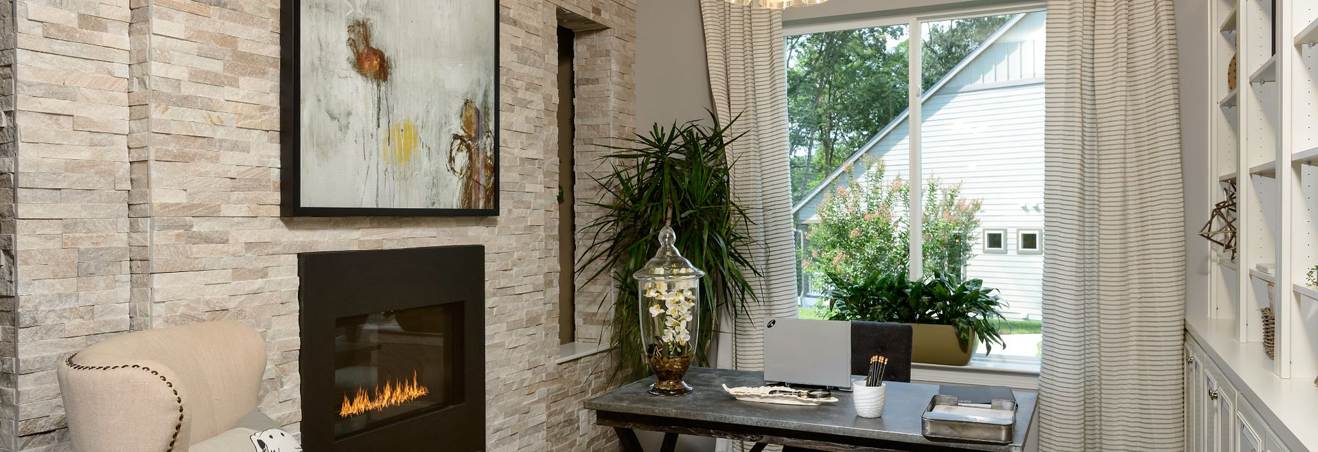 Trilogy at Lake Frederick Model Home the Engage Den