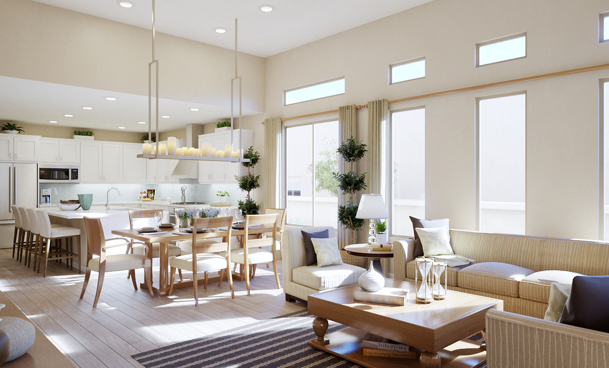 Trilogy Summerlin Explore Great Room Rendering