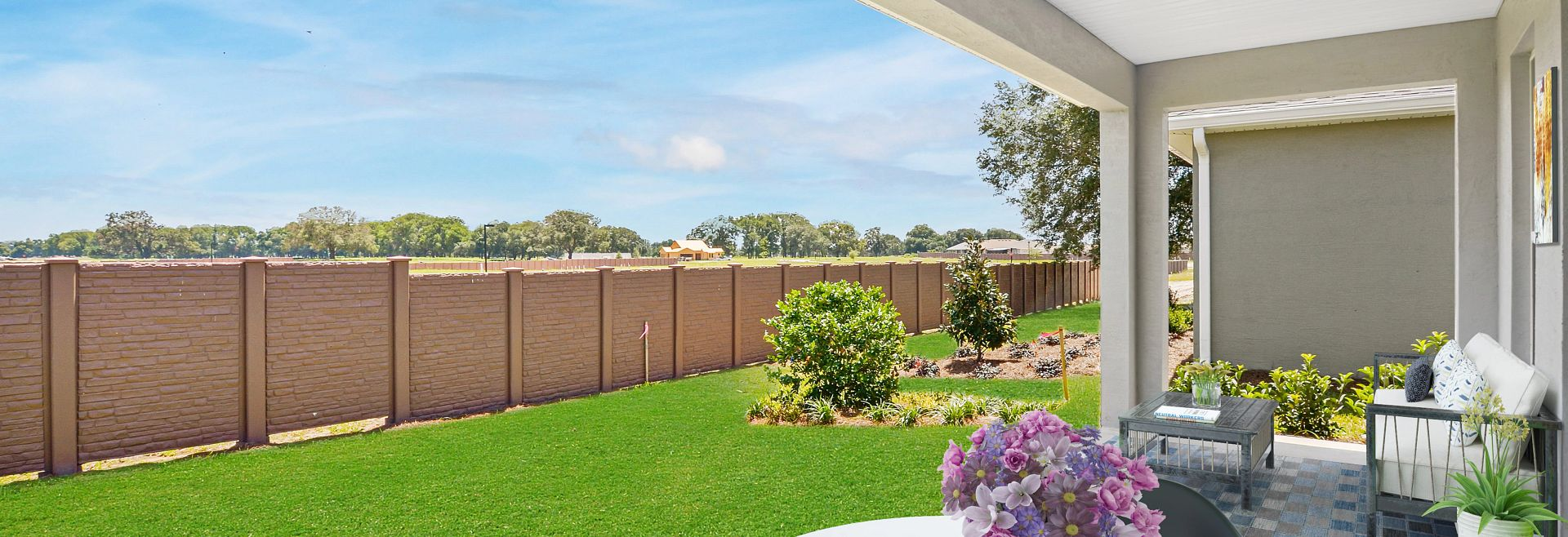 Trilogy at Ocala Preserve Quick Move-In Home Virtually Staged Covered Lanai