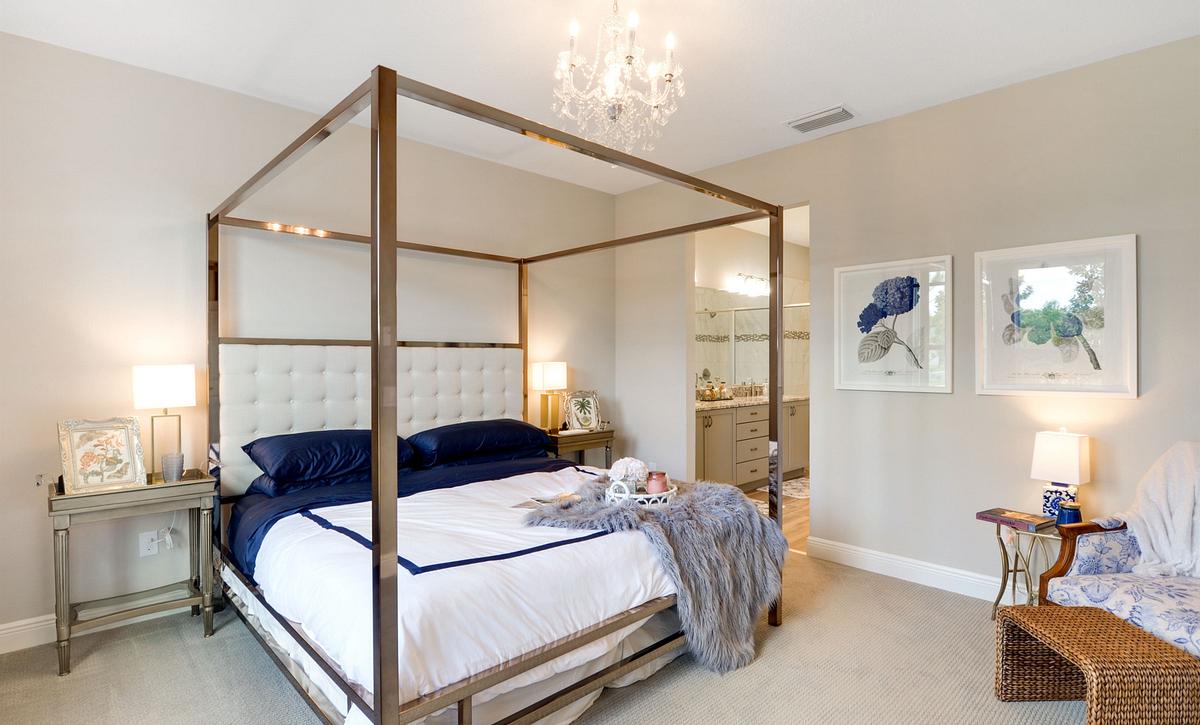 Trilogy at Ocala Preserve Affirm Model Home Master Bed