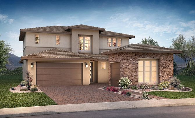 Plan 4584 Exterior H: Desert Contemporary