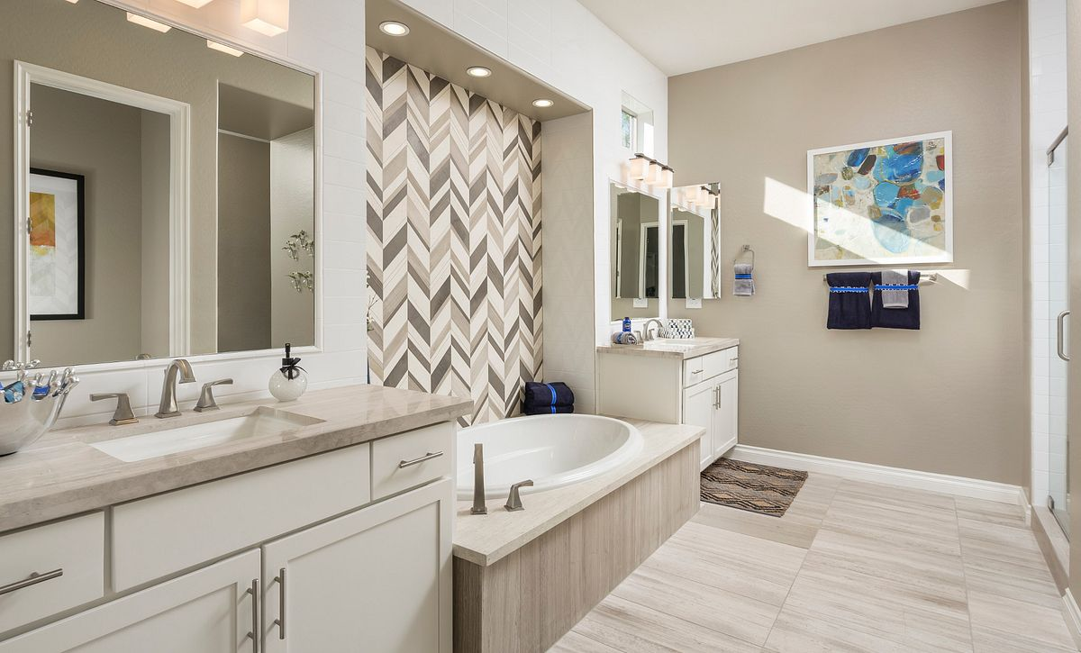 Alora Model Master Bathroom