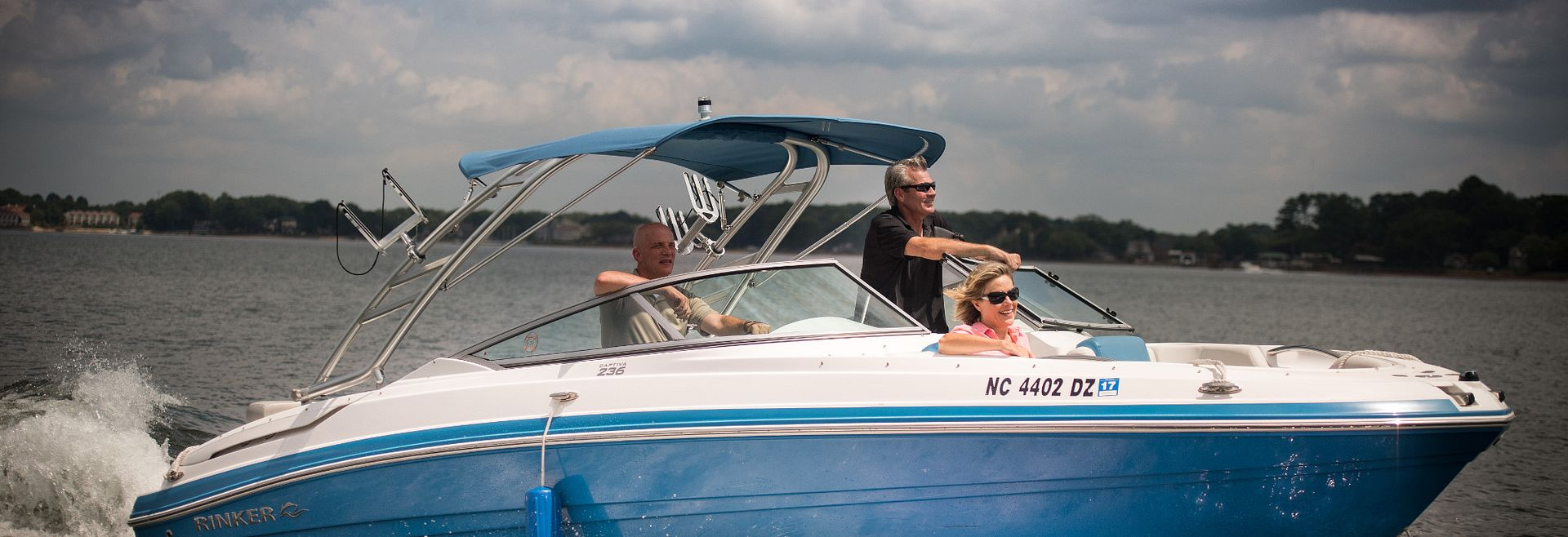 People on a Boat on Lake Norman