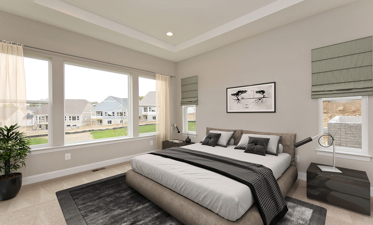 Virtually Staged Hensley Plan Owner's Suite